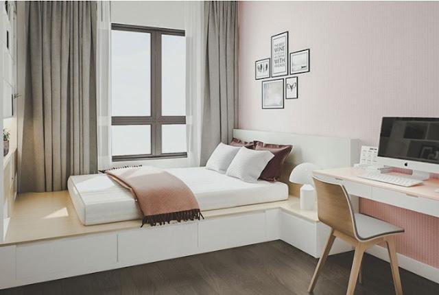 Phong cách thiết kế phòng ngủ đơn giản nhưng mang tính thẩm mỹ cao.