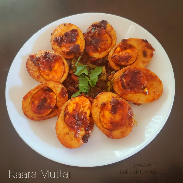 images ofEgg Fry Recipe / Kara Muttai Recipe / Egg Roast recipe / Kaara Muttai Recipe / Spicy Egg Roast
