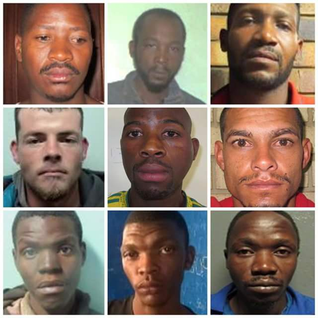 Photos: South African Police launch manhunt for 20 escaped prisoners