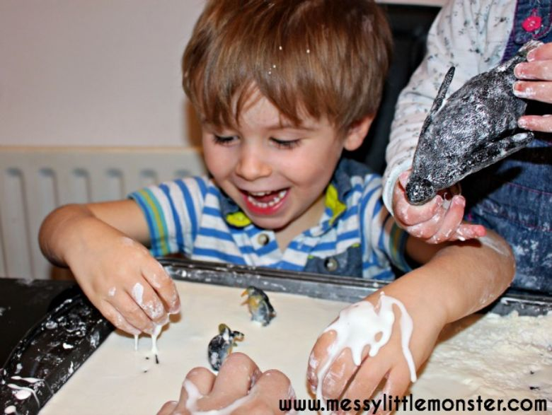 Activities for toddlers - oobleck sensory play
