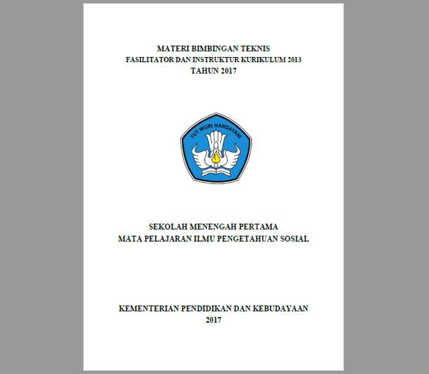 Materi BIMTEK Fasilitator dan Instruktur Kurikulum 2013 SMP Mapel IPS Tahun 2017