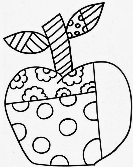 Atividades Para Colorir Infantil Romero Britto Maca