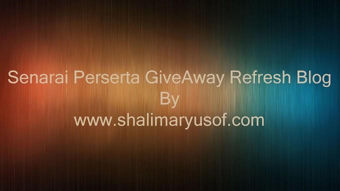 PESERTA GIVEAWAY REFRESH BLOG
