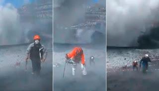 ( VIDEO ) Alpinistas se introducen en el cráter del volcán Popocatépet