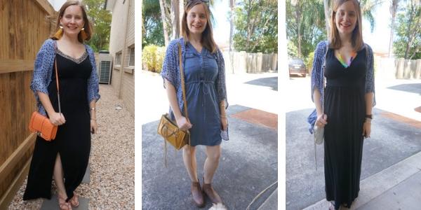 3 ways to wear navy kimono and dresses | awayfromtheblue