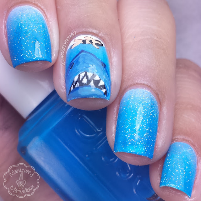 Nail Art: Shark Week feat. Jaws