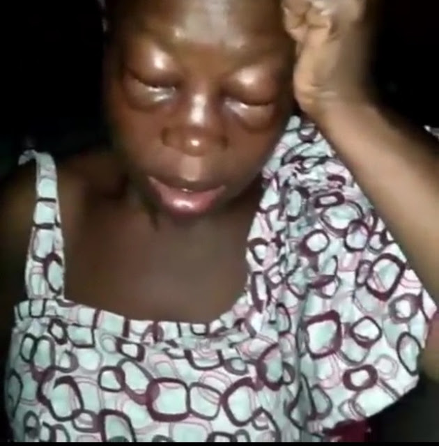 Husband Beats his wife for starting up a business (Video)