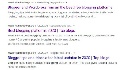 blog writing with search description