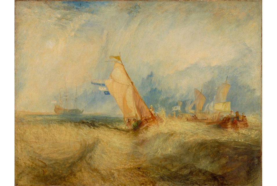 Great Maritime Art Ships at Sea M W TURNER getting a Good Wetting;-J