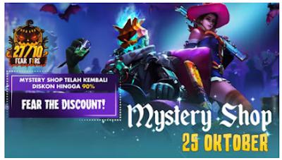 Mystery Shop Free Fire Oktober Resmi dibuka, Kunjungi mystery shop sea free fire mobile
