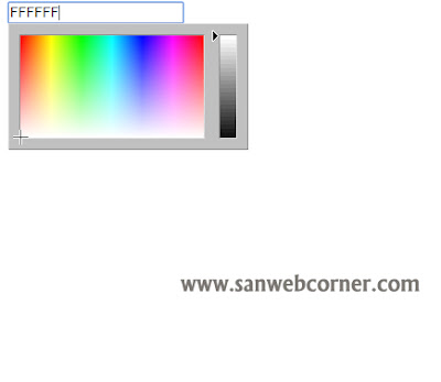 Simple Color Chooser method using jquery