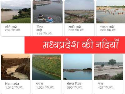 मध्यप्रदेश की नदियां | Rivers of MP in Hindi