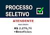 Aberto processo seletivo para atendente. Salário de R$ 2.276,76 + Benefícios