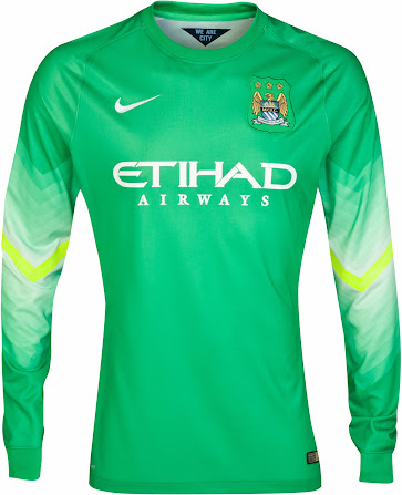 518448d4692 Based on the same template as the England 2014 World Cup Goalkeeper Kits,  the new Manchester City 14-15 Goalkeeper Kits are green / white / yellow  and ...