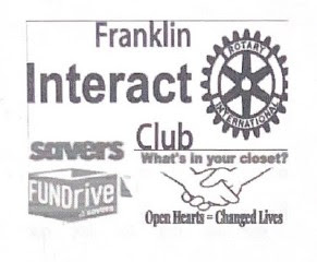 Franklin Interact scheduling clothing drive for January, 2021