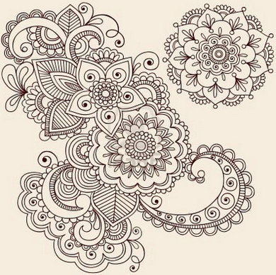 Henna Flower Patterns Www Picswe Com