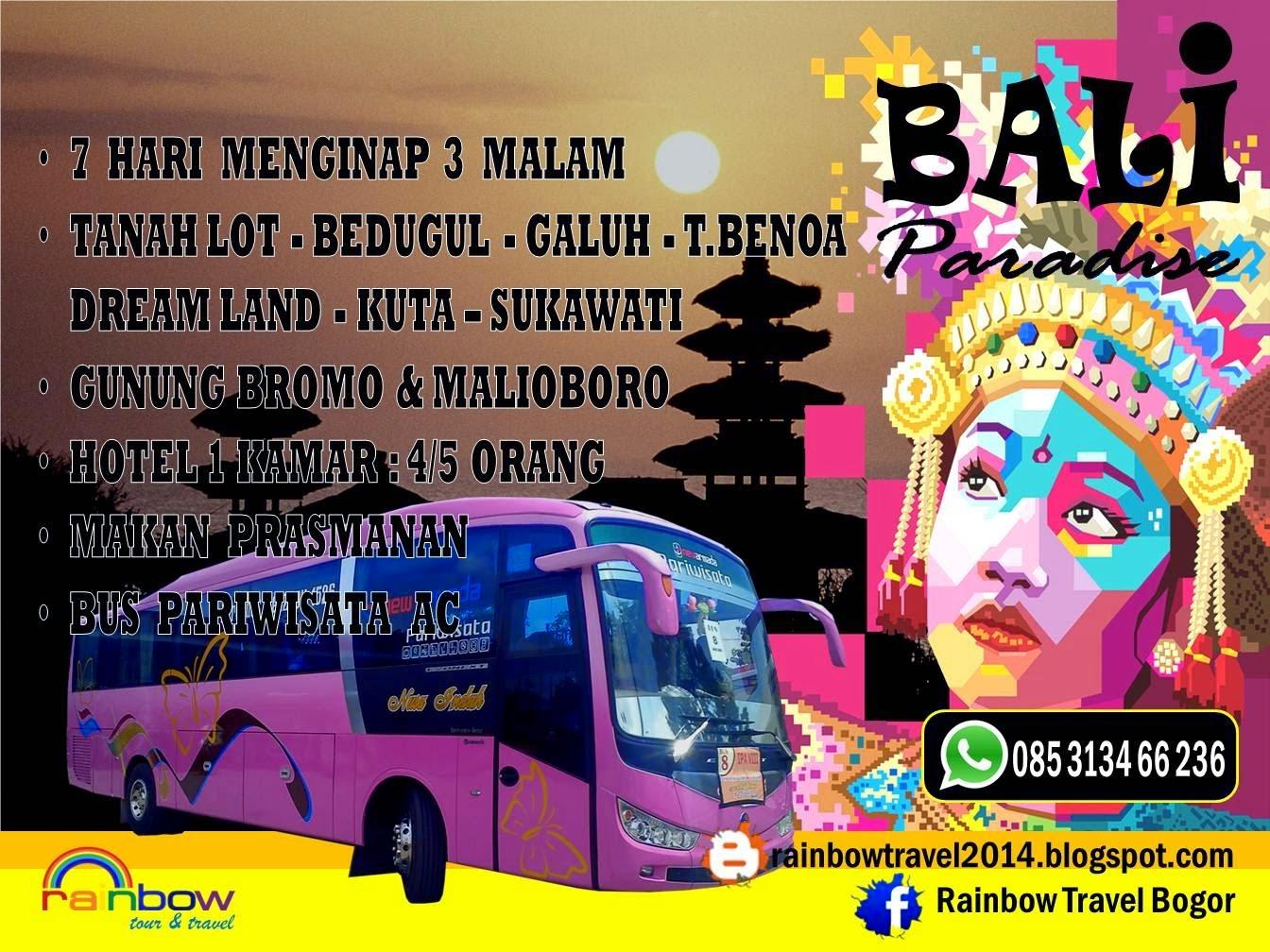 Derainbow Tour Organizer Rent A Bus Paket Wisata Murah Meriah