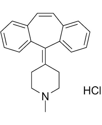 Cyproheptadine has potent antihistaminic and serotonin antagonist properties with anticholinergic, sedative and calcium-channel blocking activity