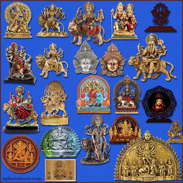 Maa Durga real idol png