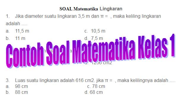 Downlod Contoh Soal Matematika Lingkaran Kelas 1 SMA - Galeri Guru