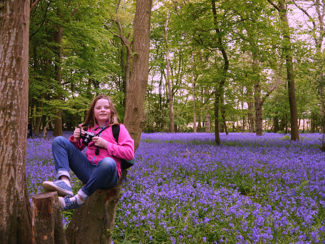 Girl in the Bluebell field