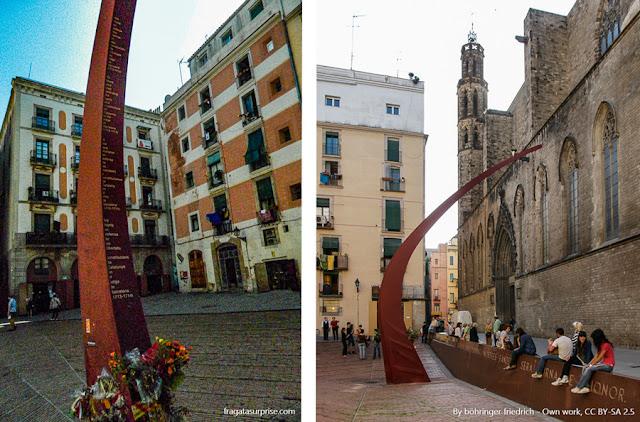 Fossar de les Moreres, um memorial aos mortos na defesa da autonomia catalã, no Século 18