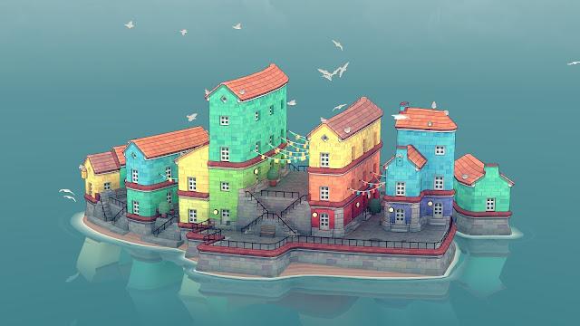 Townscaper, jogo relaxante de construção de cidades, será lançado no Switch em agosto; confira um novo trailer
