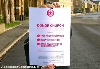 Iglesias campaña donación de sangre y órganos
