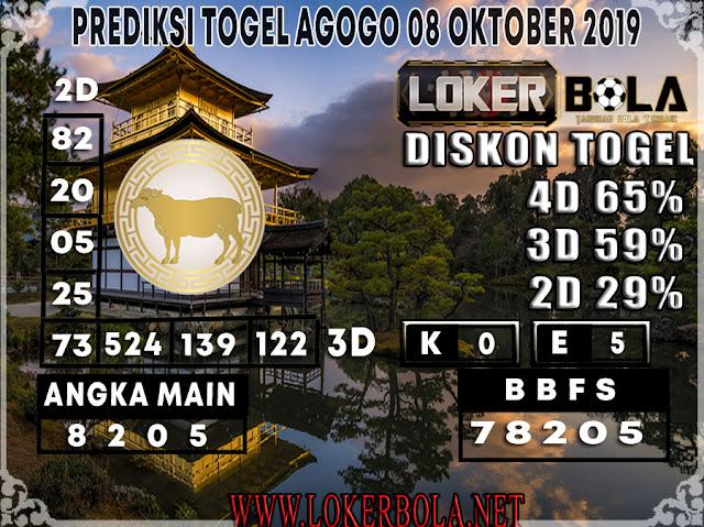 PREDIKSI TOGEL AGOGO LOKERBOLA 08 OKTOBER 2019