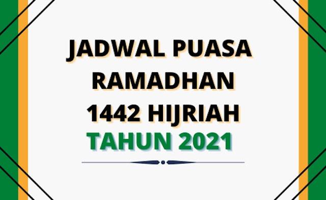 (Download) Jadwal Puasa Ramadhan 1442 H Kabupaten/Kota Seluruh Indonesia