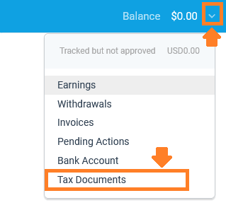 How To Sign Up & Use Impact Radius Affiliate Network   Tax Document 1