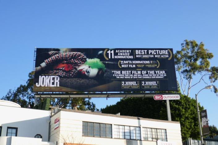 Joker Oscar nominee billboard