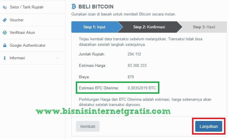 cara menukar bitcoin ke rupiah