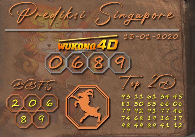 Prediksi Togel SINGAPORE WUKONG4D 13 JANUARI 2020
