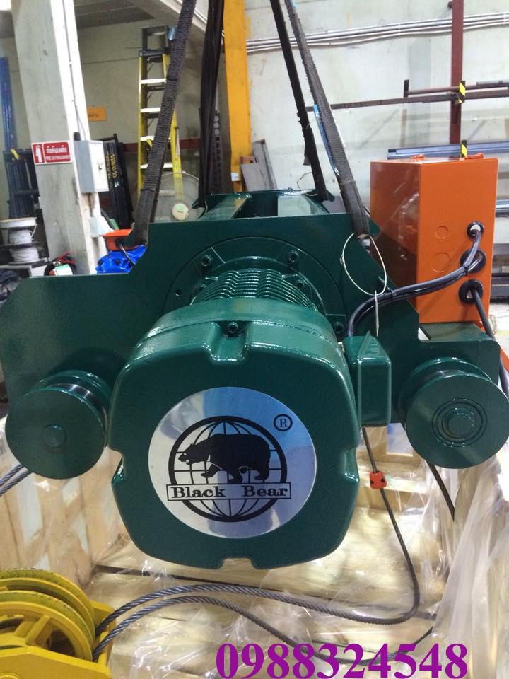 Pa lăng điện cáp Black Bear dầm đôi SBH-750 7.5 tấn