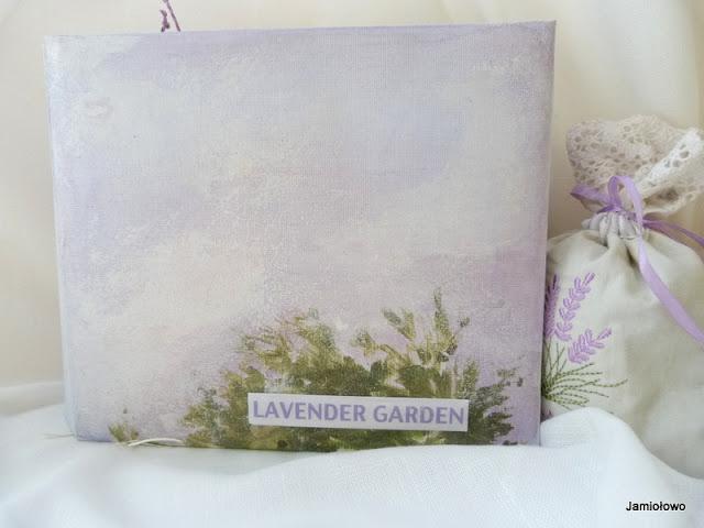 okładka lawendowego albumu ręczne malowana