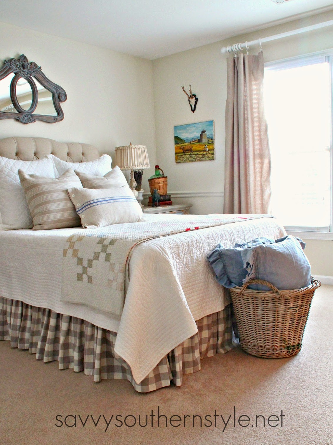 French Country Style Guest Room Canvas