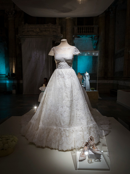 The Wedding Dress Of Princess Madeleine Sweden Designed By Valentino Garavani Is Seen On Display During An Exhibition At Royal Palace October 17