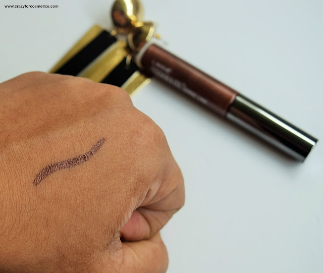 Lakme Absolute Liquid Liner in Brown Shimmer Swatches