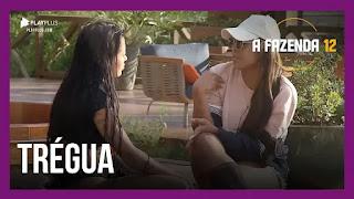 A Fazenda 12 – Mirella conversa com Jakelyne e Tays – Raissa brinca com animais