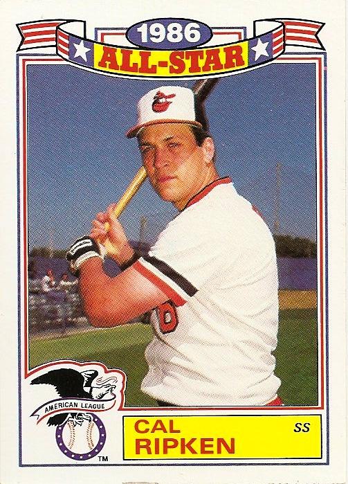 Orioles Card O The Day Cal Ripken Jr 1987 Topps Glossy