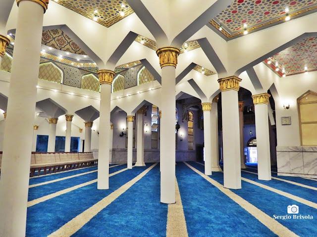 Vista do Salão de Orações da Mesquita Brasil - Cambuci - São Paulo