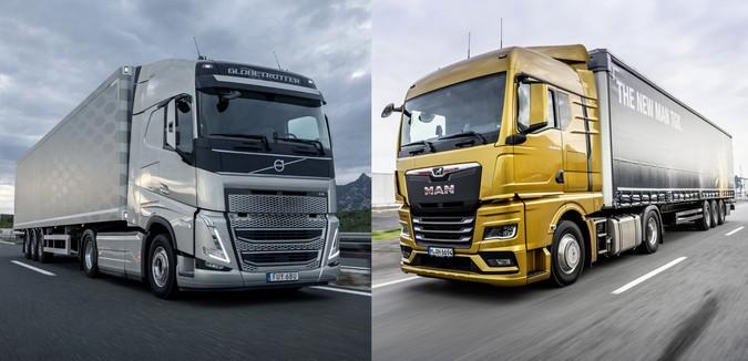 """Novos MAN TGX e Volvo FH disputam o título de """"Caminhão Internacional de 2021"""""""