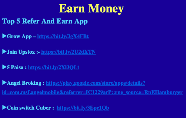 100% genuine  Refer And Earn App