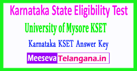 Karnataka State Eligibility Test University of Mysore KSET Answer Key 2017 Download