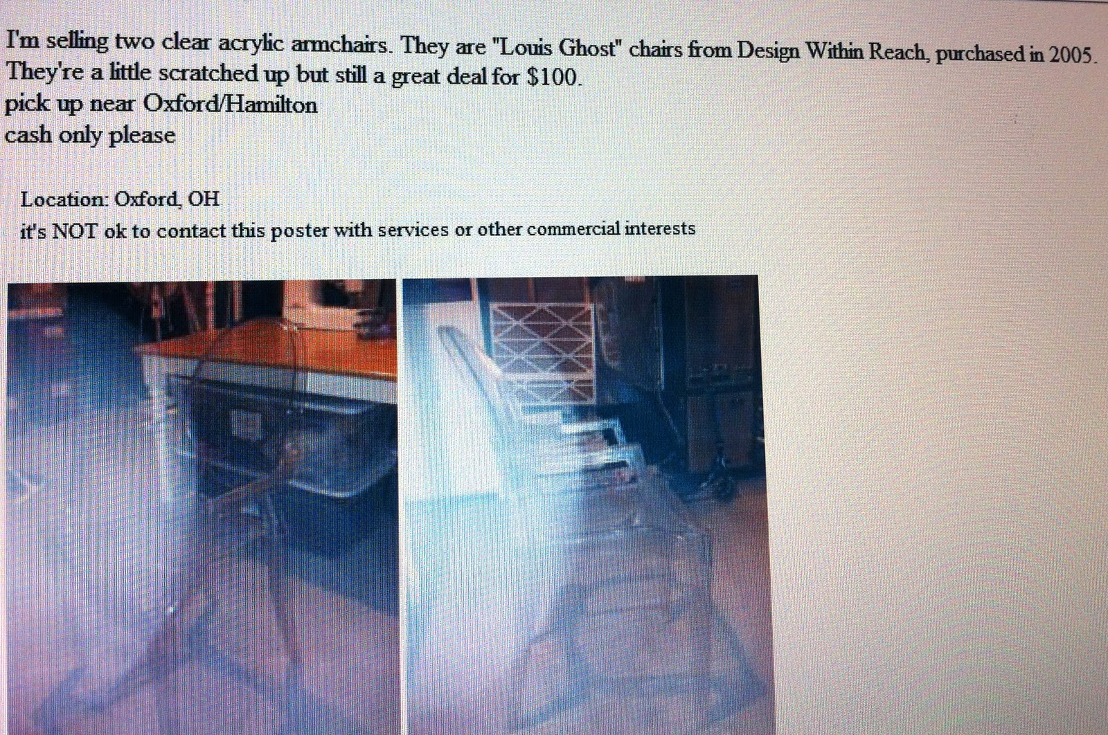 ghost chair knock off best desk for back pain baker 39s house casper the friendly