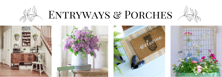 1-Entryways Spring Flowers Inspired Tablescape & Blog Hop Decorating Holidays Spring