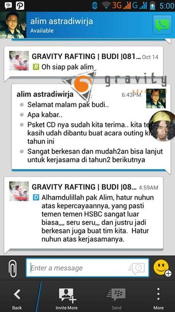 Testimoni Gravity Adventure
