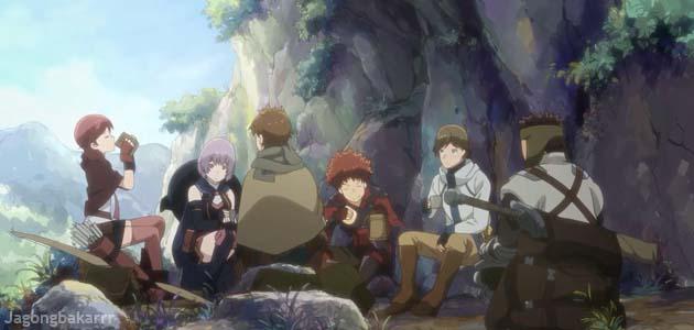 Hai to Gensou no Grimgar cover poster bercerita tentang Sinopsis Anime : Hai to Gensou no Grimgar