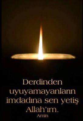 Derdinden uyuyamayanların imdadına sen yetiş Allah'ım. (Amin), dua, günün duası, mum, ışık, gece, karanlık,